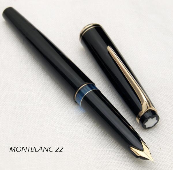 Montblanc勃朗峰No22 60年代fudeddoingunibu的魅力细长的形式14钱复古钢笔