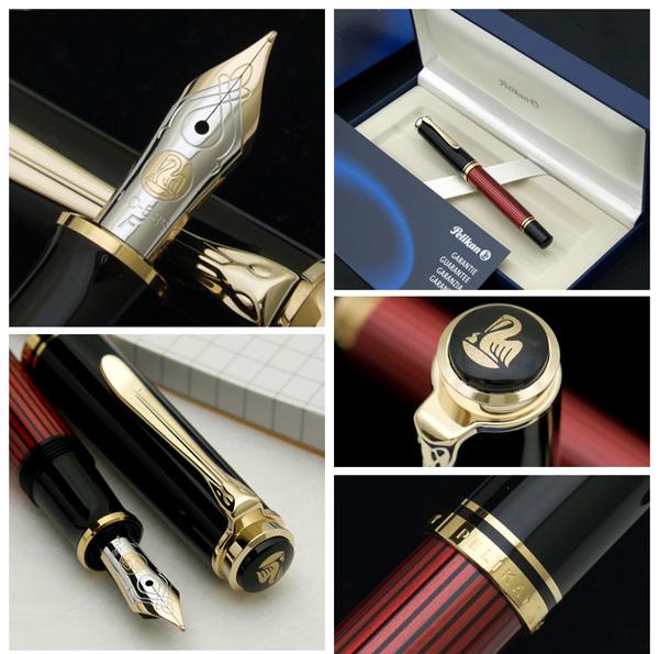 suberen M400钢笔红条纹(红条纹)14钱老铺的杰作德国最高峰的钢笔!