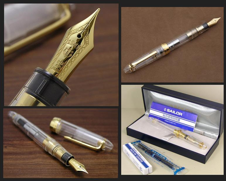 C 明确的盈利 21 ! 清除大型喷泉 21 金透明笔尖 x 黄金订单产品笔尖 6 类型