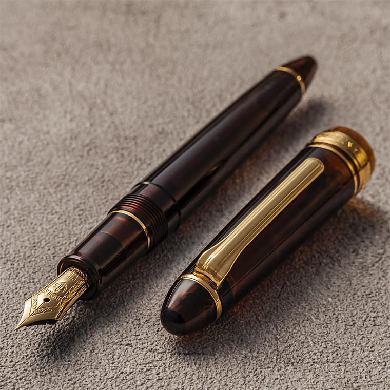 69e7ae53e21d 21 limited gold fountain pen transparence axis series Mocha brown profit  standard 11-8171