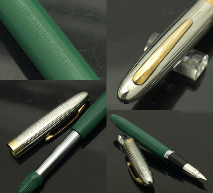 Schaefer SHEAFFER Snorkel Valiant Snorkel Valiant Green / EF 1950s Vintage  Fountain Pen