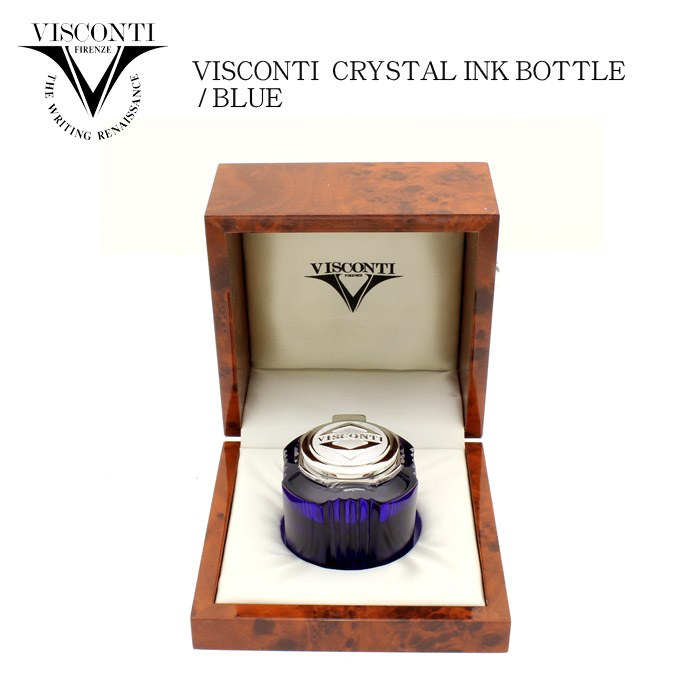 Beautiful crystal ink pot and Blue design! Reliable sealed bottle ink