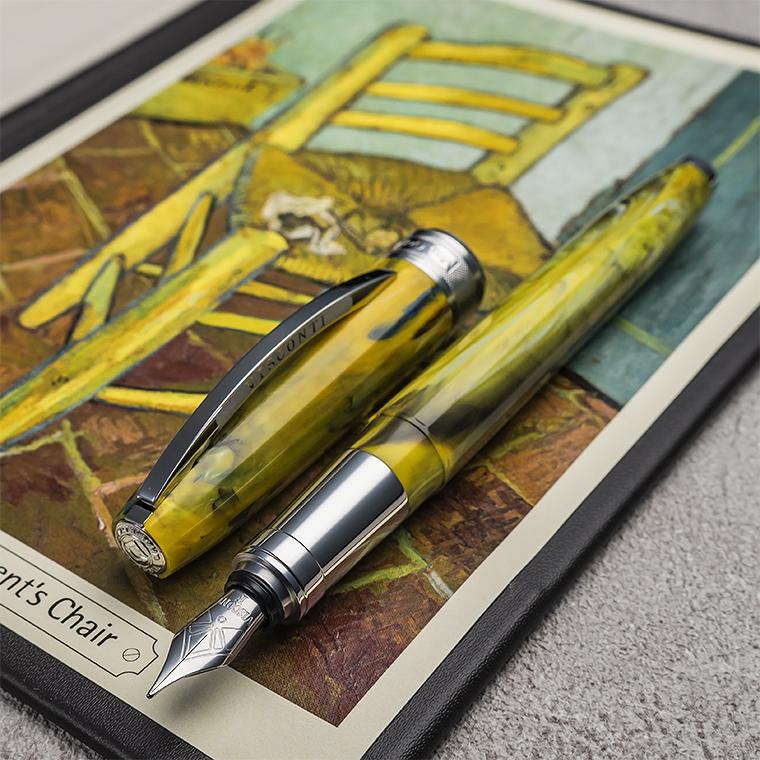 【VI67】【VISCONTI/ビスコンティ】Van Gogh 2011 万年筆 Impressionist Vincent Chair/ヴィンセント・チェアヴァン・ゴッホの名画をオマージュしたシリーズ グリーン イエロー マーブル【即納/宅配便対応 保証 イタリア製 ファン・ゴッホ 平行輸入品】