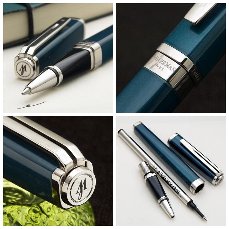 例外纤细绿宝石绿色ST滚柱圆珠笔经过提炼的绿宝石绿色×银子修剪