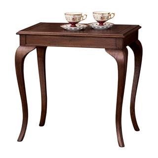 ウェール コーヒーテーブル 英国風 アンティーク調 クラシック 猫脚【送料無料】【代引不可】