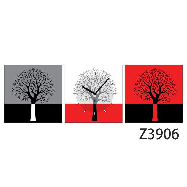 壁掛け時計 日本初!300種類以上のデザインから選ぶパネルクロック◆3枚のアートパネルの壁掛け時計◆hOur Design Z3906【イラスト】【アート】【代引不可】 送料無料