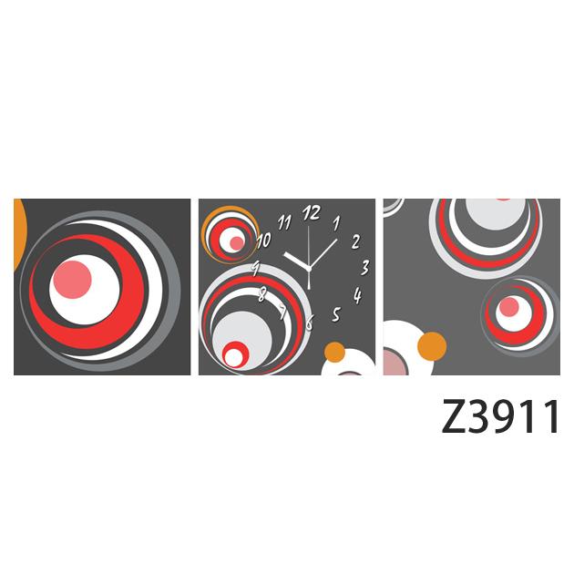 壁掛け時計 日本初!300種類以上のデザインから選ぶパネルクロック◆3枚のアートパネルの壁掛け時計◆hOur Design Z3911【イラスト】【アート】【代引不可】 送料無料