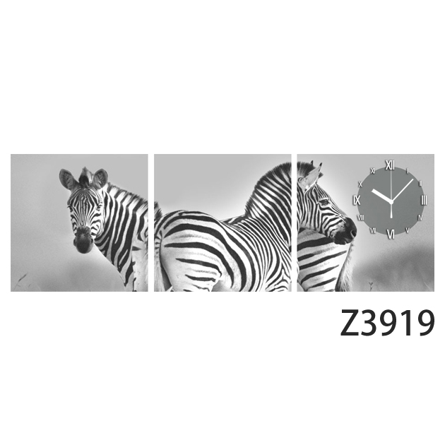 壁掛け時計 日本初!300種類以上のデザインから選ぶパネルクロック◆3枚のアートパネルの壁掛け時計◆hOur Design Z3919【自然】【代引不可】 送料無料