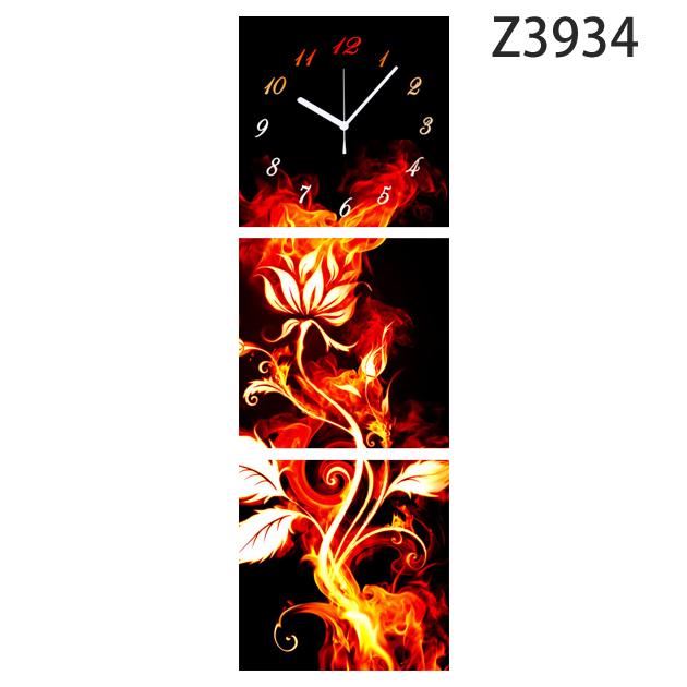壁掛け時計 日本初!300種類以上のデザインから選ぶパネルクロック◆3枚のアートパネルの壁掛け時計◆hOur Design Z3934【イラスト】【花】【代引不可】 送料無料