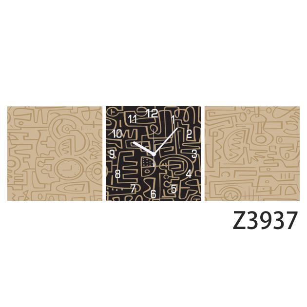 壁掛け時計 日本初!300種類以上のデザインから選ぶパネルクロック◆3枚のアートパネルの壁掛け時計◆hOur Design Z3937【イラスト】【アート】【代引不可】 送料無料