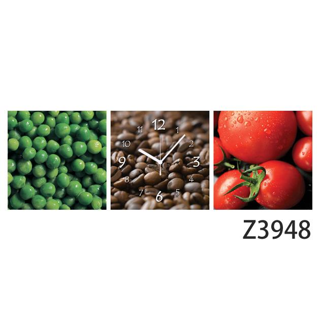 壁掛け時計 日本初!300種類以上のデザインから選ぶパネルクロック◆3枚のアートパネルの壁掛け時計◆hOur Design Z3948【フード】【アート】【代引不可】 送料無料