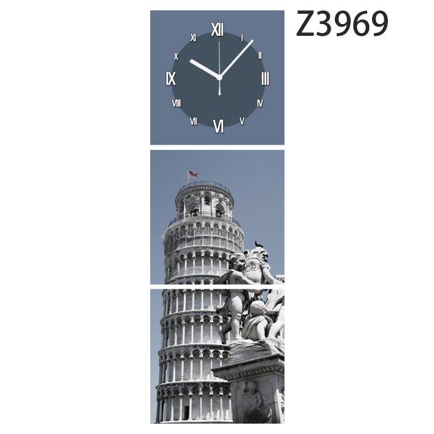 壁掛け時計 日本初!300種類以上のデザインから選ぶパネルクロック◆3枚のアートパネルの壁掛け時計◆hOur Design Z3969【風景】【代引不可】 送料無料