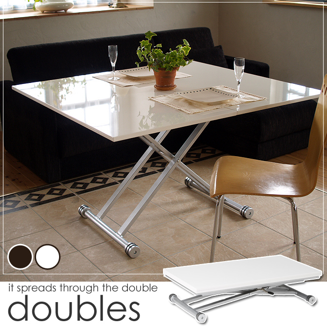 Extendable Lifting Tables Spread To The Twice Extendable Table Top Doubles  Popular White Living Table Dining Table Lifting Table Extension Table  Lifting ...