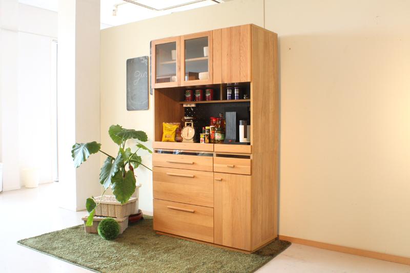 食器棚 完成品 幅105cm 木製 日本製和風モダンキッチンボード おしゃれ レンジボード キッチン収納 OCTA 105KB 【送料無料】【日時指定不可】