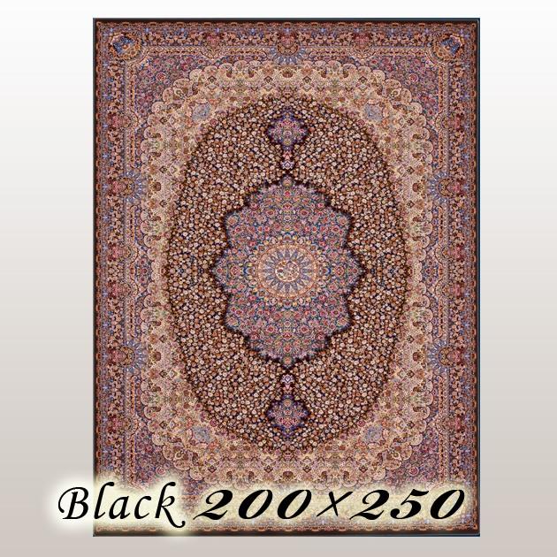 ラグ カーペット リディオ Lidio イラン ウイルトン織 ブラック 200×250cm