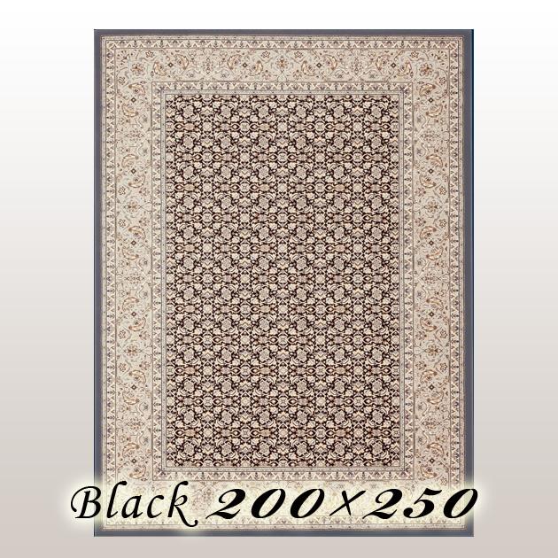 ラグ カーペット レーモ Remo ベルギー ウイルトン織 ブラック 200×250cm