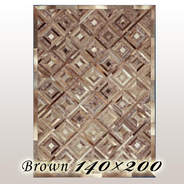 ラグ カーペット ウルポ Urpo インド ブラウン 140×200cm