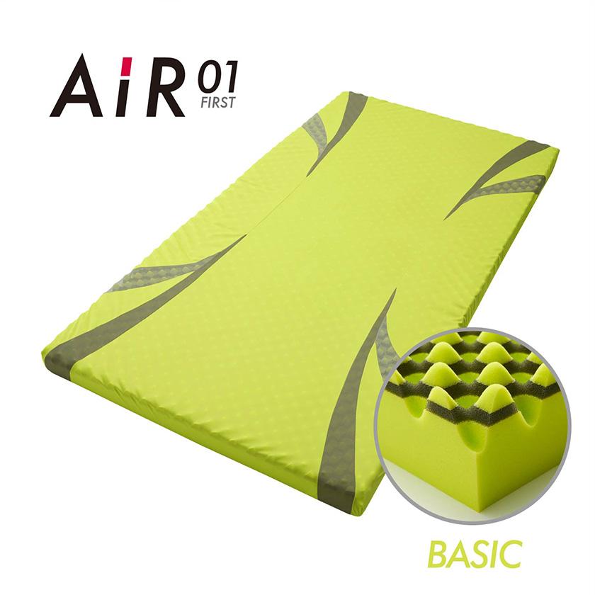 西川 AIR01 エアー01 AIR エアー 01 ダブル ベーシック ハード マットレス ウレタン コンディショニングマットレス 体圧分散 寝姿勢保持 軽量 快眠 ダブルサイズ 特殊立体波形凹凸構造