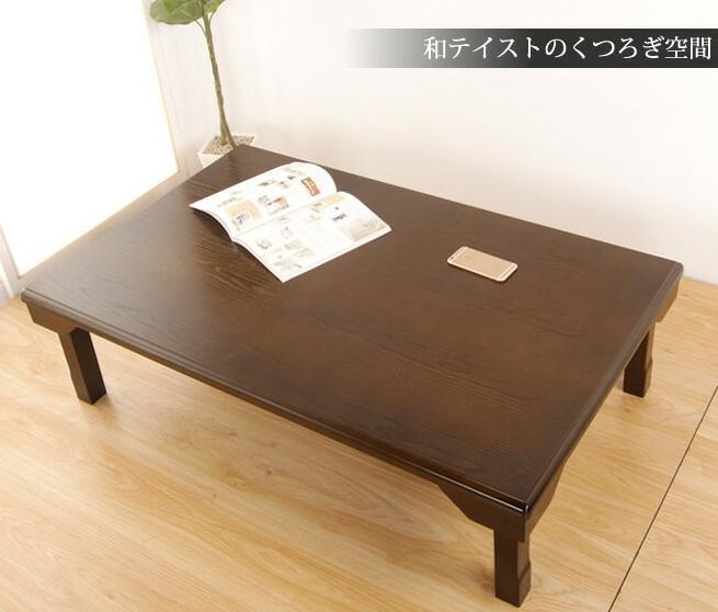 テーブル 折りたたみ脚 木製 座卓 角120cm 天然木 センターテーブル ちゃぶ台 折れ脚テーブル 長方形 ローテーブル リビングテーブル ラウンドテーブル 客間卓 和風
