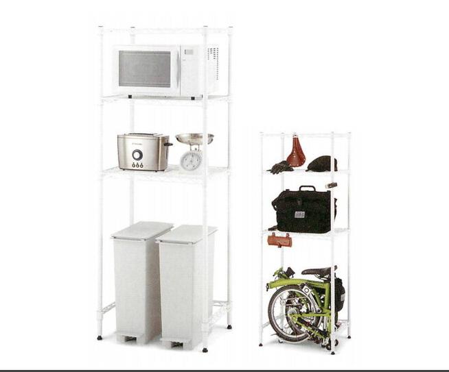 ホームエレクター キッチンラック HKR-02 セット品 幅60cm×奥行45cm×高さ159.5cm HomeERECTA スチールラック棚 メタルラック スチールシェルフ スチール棚