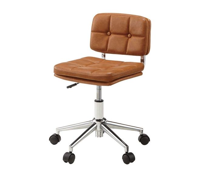 イス チェア デスクチェア ブラウン パーソナルチェア 昇降機能 キャスター付き レトロ パソコンチェア オフィスチェア 椅子 昇降式 アンティーク