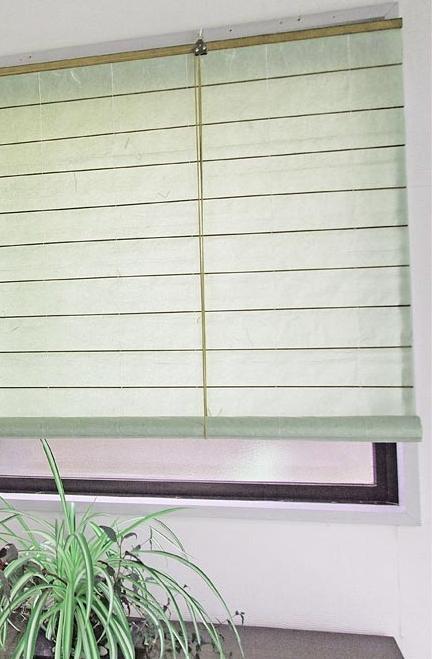 和紙調スクリーン 幅88×高さ約180cm RH-1195S 吸湿効果 目隠し 丈夫 空気洗浄作用 間仕切り ロールアップ 和紙 巻上タイプ 和室 洋室 リビング ロールスクリーン 窓用