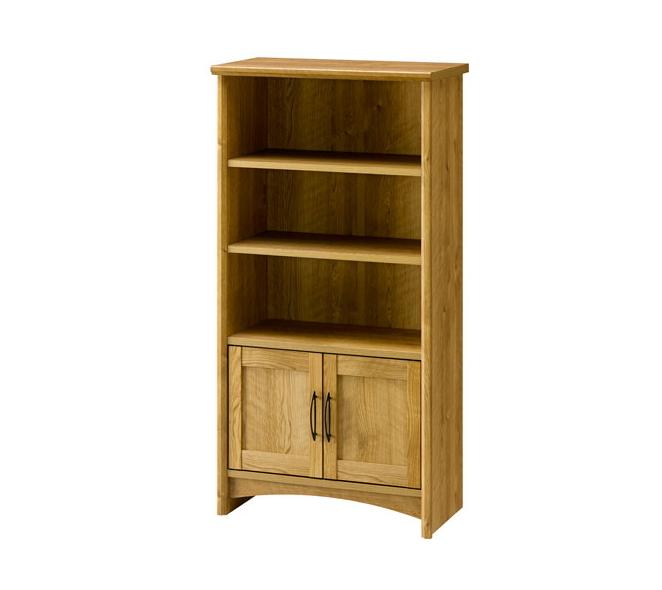 シェルフ 幅60cm 木製 オープンラック 板扉 棚収納 カントリー調
