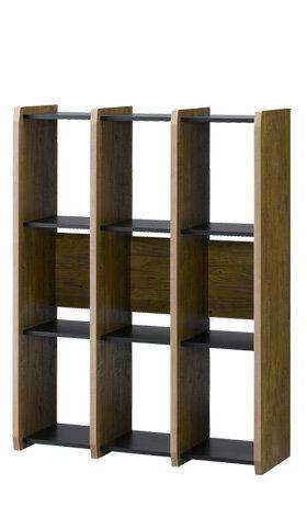 収納家具 シェルフ ラック ディスプレイラック 授与 棚 本棚 直営ストア ブックシェルフ 木製 高さ120cm 幅90cm 間仕切り オープンシェルフ ビンテージ