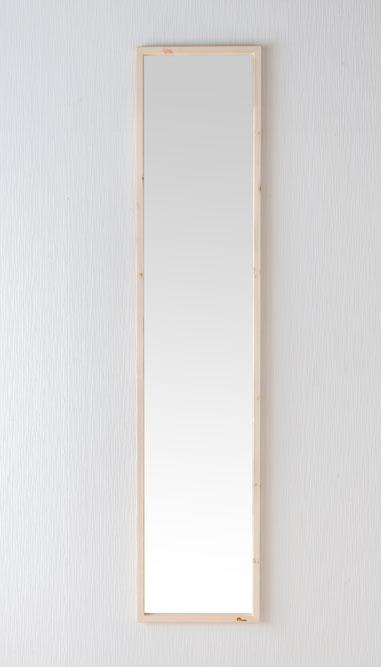 鏡 天然木 スタンドミラー ジャンボミラー 幅約33.5cm 高さ約155.4cm Foresta フォレスタ 姿見 レッドパイン 木製フレーム ドレスアップミラー 赤松