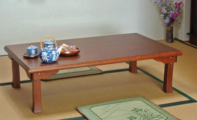 折りたたみテーブル 折れ脚角座卓 幅120cm 和室 座卓 テーブル 木製 和風 和 モダン 座敷 おしゃれ リビングテーブル センターテーブル ローテーブル