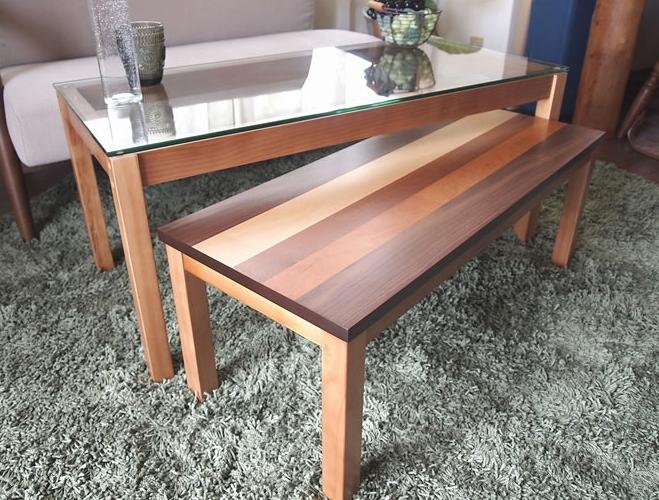 ネストテーブル コーヒーテーブル 2点セット テーブル センターテーブル パソコンデスク ローボード 木製 ローデスク 机 ガラステーブル ウォールナット 北欧 サイドテーブル ガラス 天然木 ツインテーブル[送料無料][代引不可]