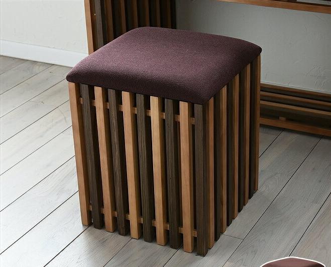 収納スツール おしゃれ 天然木 木製 椅子 イス シンプル 収納付きスツール 格子デザイン 植物性オイル塗装 ナチュラル モダンデザイン 和モダン 和風モダン 和風インテリア