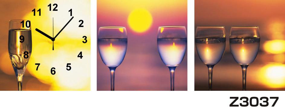日本初!300種類以上のデザインから選ぶパネルクロック◆3枚のアートパネルの壁掛け時計◆hOur DesignZ3037グラス【アート】【代引不可】 送料無料 新生活 引越