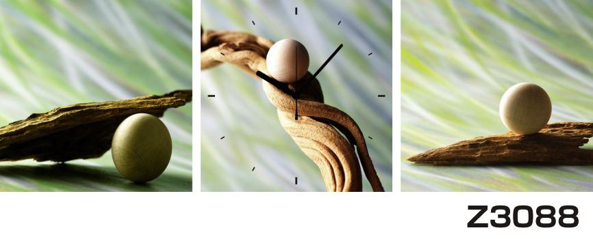 日本初!300種類以上のデザインから選ぶパネルクロック◆3枚のアートパネルの壁掛け時計◆hOur DesignZ3088幹 球体【アート】【代引不可】 送料無料 新生活 引越