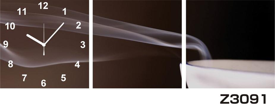 日本初!300種類以上のデザインから選ぶパネルクロック◆3枚のアートパネルの壁掛け時計◆hOur DesignZ3091コーヒー【アート】【代引不可】 送料無料 新生活 引越