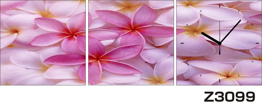 日本初!300種類以上のデザインから選ぶパネルクロック◆3枚のアートパネルの壁掛け時計◆hOur DesignZ3099【花】【代引不可】 送料無料 新生活 引越