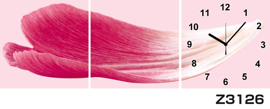 日本初!300種類以上のデザインから選ぶパネルクロック◆3枚のアートパネルの壁掛け時計◆hOur DesignZ3126【花】【代引不可】 送料無料 新生活 引越