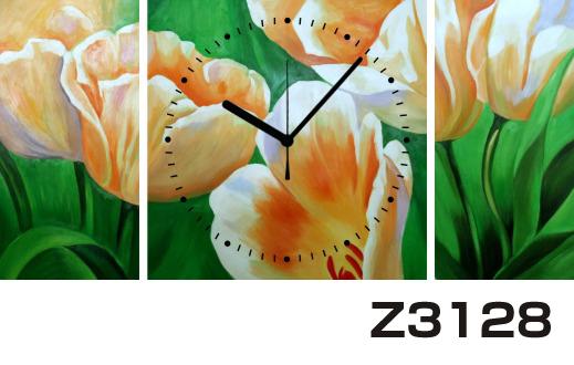 日本初!300種類以上のデザインから選ぶパネルクロック◆3枚のアートパネルの壁掛け時計◆hOur DesignZ3128【アート】【花】【代引不可】 送料無料 新生活 引越