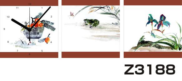 日本初!300種類以上のデザインから選ぶパネルクロック◆3枚のアートパネルの壁掛け時計◆hOur DesignZ3188【アート】【花】【代引不可】 送料無料 新生活 引越