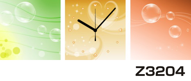 日本初!300種類以上のデザインから選ぶパネルクロック◆3枚のアートパネルの壁掛け時計◆hOur DesignZ3204【イラスト】【アート】【代引不可】 送料無料 新生活 引越