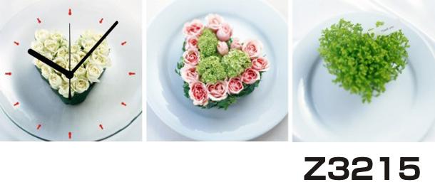 日本初!300種類以上のデザインから選ぶパネルクロック◆3枚のアートパネルの壁掛け時計◆hOur DesignZ3215【アート】【花】【代引不可】 送料無料 新生活 引越