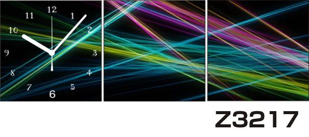 日本初!300種類以上のデザインから選ぶパネルクロック◆3枚のアートパネルの壁掛け時計◆hOur DesignZ3217光線【アート】【代引不可】 送料無料 新生活 引越