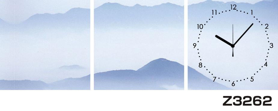 日本初!300種類以上のデザインから選ぶパネルクロック◆3枚のアートパネルの壁掛け時計◆hOur DesignZ3262山【アート】【風景】【海・空】【自然】【代引不可】 送料無料 新生活 引越