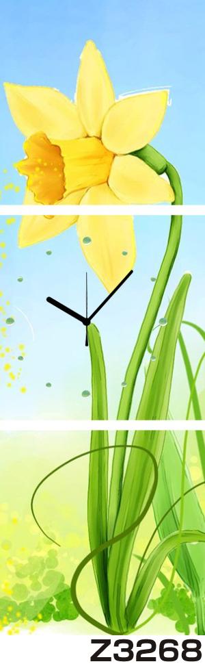 日本初!300種類以上のデザインから選ぶパネルクロック◆3枚のアートパネルの壁掛け時計◆hOur DesignZ3268【アート】【花】【代引不可】 送料無料 新生活 引越