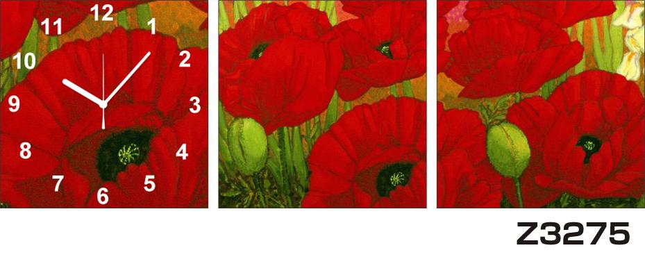 日本初!300種類以上のデザインから選ぶパネルクロック◆3枚のアートパネルの壁掛け時計◆hOur DesignZ3275【アート】【花】【代引不可】 送料無料 新生活 引越