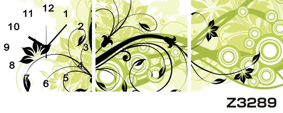 日本初!300種類以上のデザインから選ぶパネルクロック◆3枚のアートパネルの壁掛け時計◆hOur DesignZ3289【アート】【花】【代引不可】 送料無料 新生活 引越