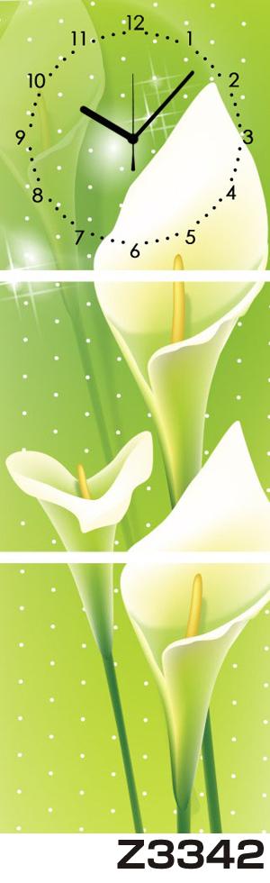 日本初!300種類以上のデザインから選ぶパネルクロック◆3枚のアートパネルの壁掛け時計◆hOur DesignZ3342【アート】【花】【代引不可】 送料無料 新生活 引越