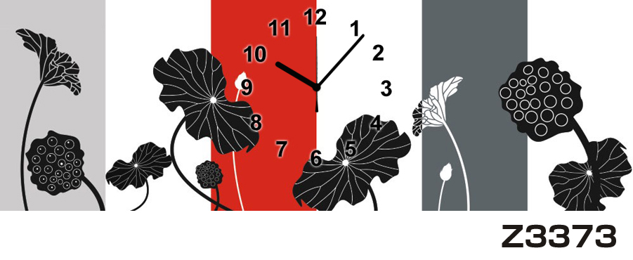 日本初!300種類以上のデザインから選ぶパネルクロック◆3枚のアートパネルの壁掛け時計◆hOur DesignZ3373【アート】【花】【代引不可】 送料無料 新生活 引越