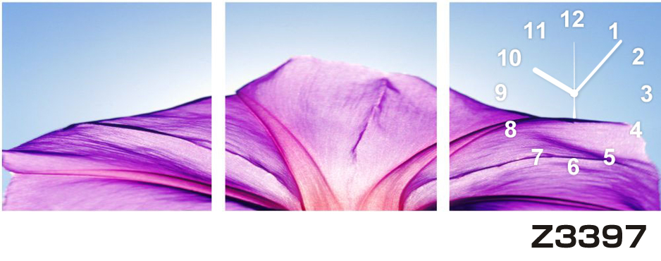 日本初!300種類以上のデザインから選ぶパネルクロック◆3枚のアートパネルの壁掛け時計◆hOur DesignZ3397【花】【代引不可】 送料無料 新生活 引越