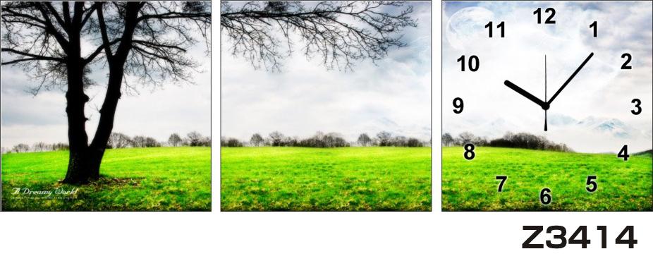 日本初!300種類以上のデザインから選ぶパネルクロック◆3枚のアートパネルの壁掛け時計◆hOur DesignZ3414【風景】【海・空】【自然】【代引不可】 送料無料 新生活 引越